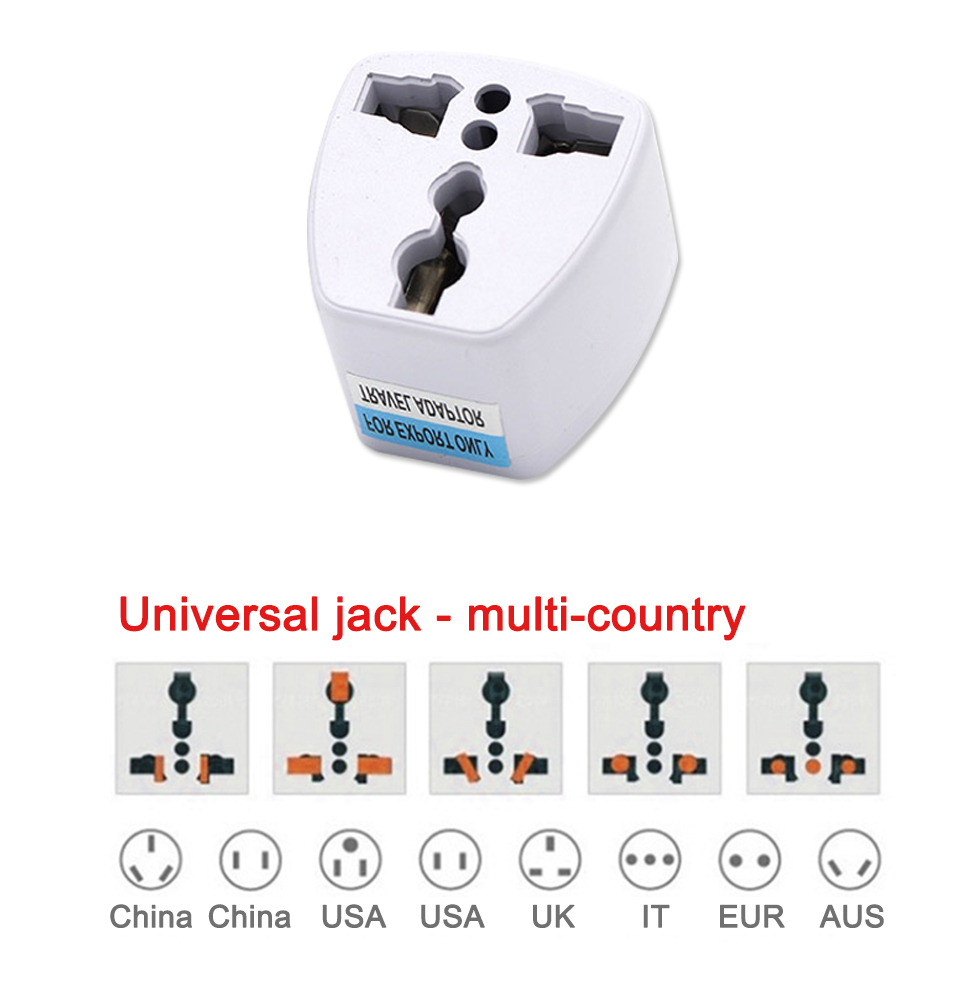 Multifunctional EU US AU to UK Plugs adapter Power Converter Plugs 2 Pin Socket EU to England Travel Charger Adapter Converter (6)