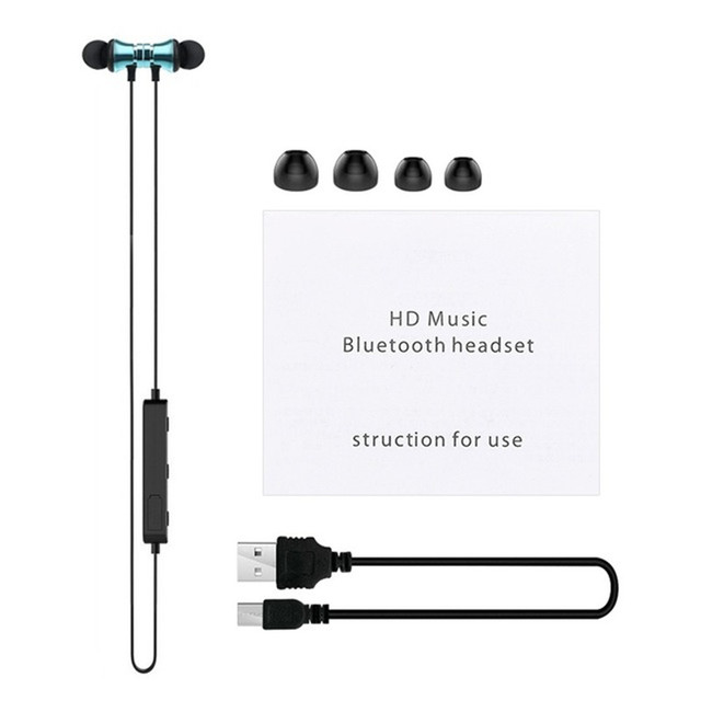 Sports Bluetooth Headphones Stereo Music Earphones Magnetic Earpiece Handsfree fone de ouvido Wireless Headset for Xiaomi iPhone