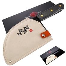 Нож шеф повара ручной работы Кливер нож Высокоуглеродистая сталь полностью Tang кухонные ножи Мясник нарезка инструменты для нарезки