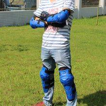 4 Peças Motocross Equipamentos de Proteção Engrenagem Da Motocicleta Do Joelho Elbow & Knee Pads Protetores Guardas