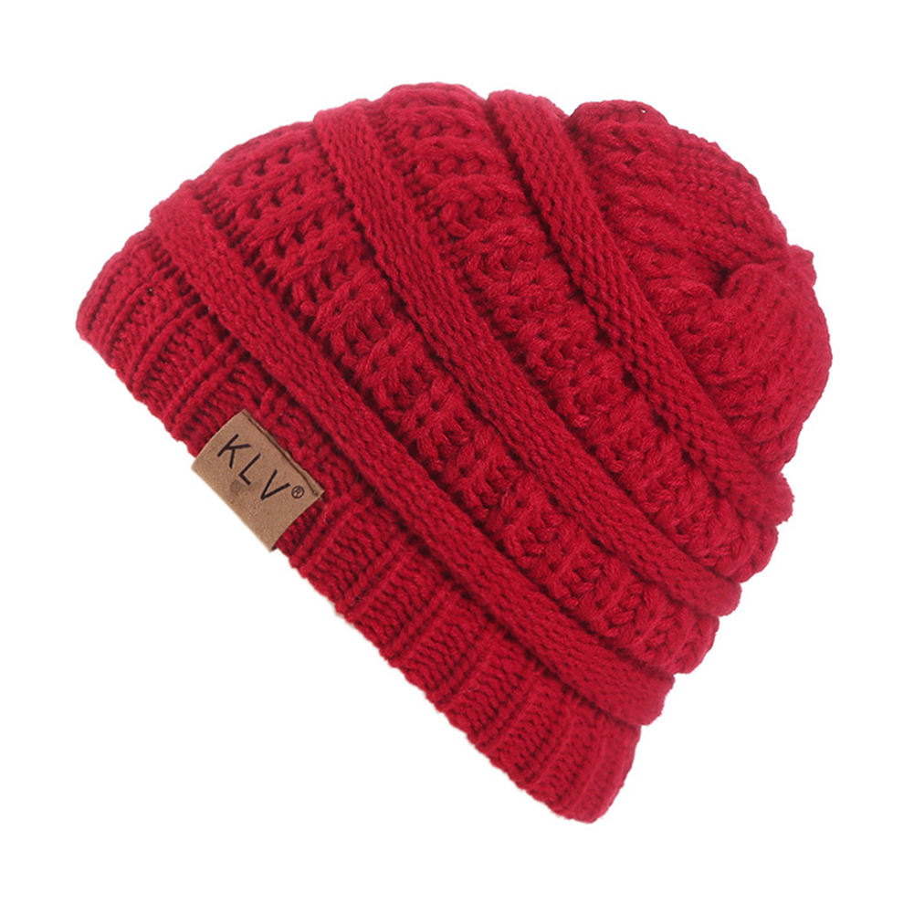 Boy Girl Winter Outdoor Warm All-match Beanie Hat  Knitted Ski Cap