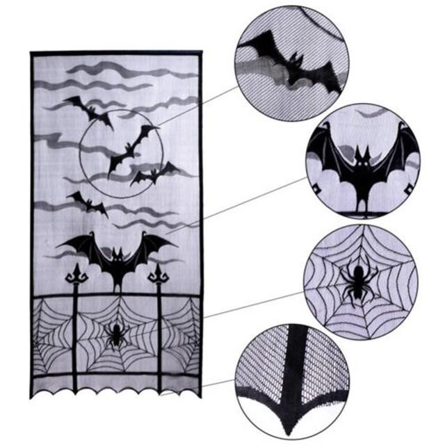 Festival DIY Door Screen Halloween Festival Heritage Lace Bat Spider Web Curtains Room Door Window Decors  sc 1 st  AliExpress.com & Festival DIY Door Screen Halloween Festival Heritage Lace Bat Spider ...
