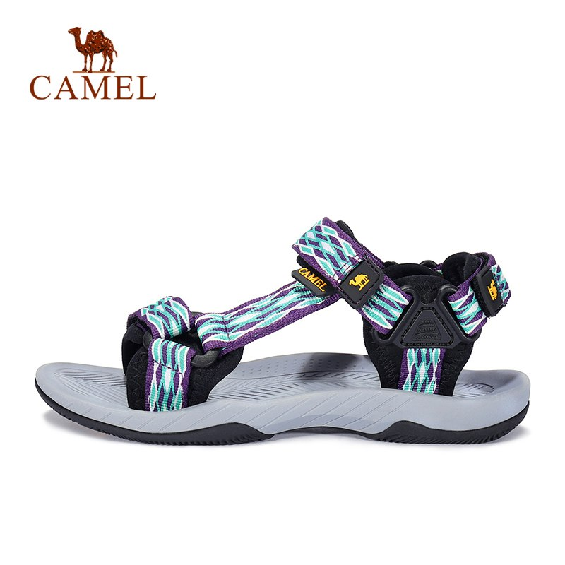CAMEL Unisex Trekking Summer Sandals Outdoor Beach Casual Men Women Anti-slip Hiking Fishing Stability Plaid
