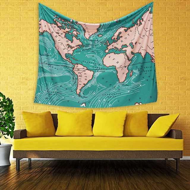 Wall Hanging World Map Indian Tapestry Hippies Mandala Bedspread ...