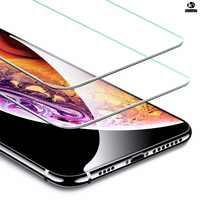 Protector Pantalla compatible iPhone 5 6 6S 7 8 PLUS X XR XS MAX - hasta 10 UNIDADES - Cristal Templado Anti Golpes Premium