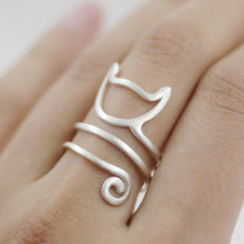 Fashion Cat Wrap Ring