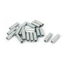 M6 Rose Joint Adapter Threaded Rod Bar Stud Round Coupling Connector Nuts 20 Pcs hot sale m6 x 150mm 304 stainless steel fully threaded rod bar studs hardware 5 pcs