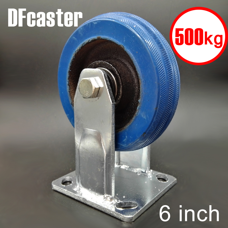 Super Rubbr 500kg Heavy Load 6 inch casters Directional Caster carrying wheel Universal Castor Double bearing Trolley Wheels new 4 swivel wheels caster industrial castor universal wheel artificial rubber heavy casters brake 360 degree rolling castors