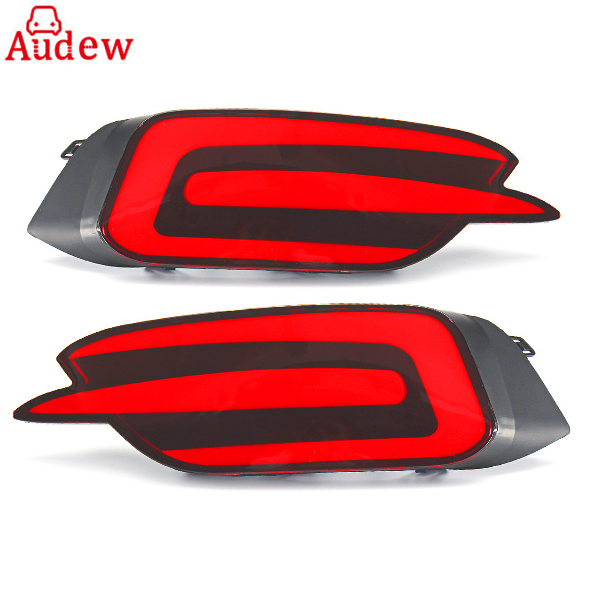 2Pcs Car Rear Bumper Brake Lights Red LED Tail Lamp For Honda/Civic 10th 2016-2017 dongzhen fit for nissan bluebird sylphy almera led red rear bumper reflectors light night running brake warning lights lamp