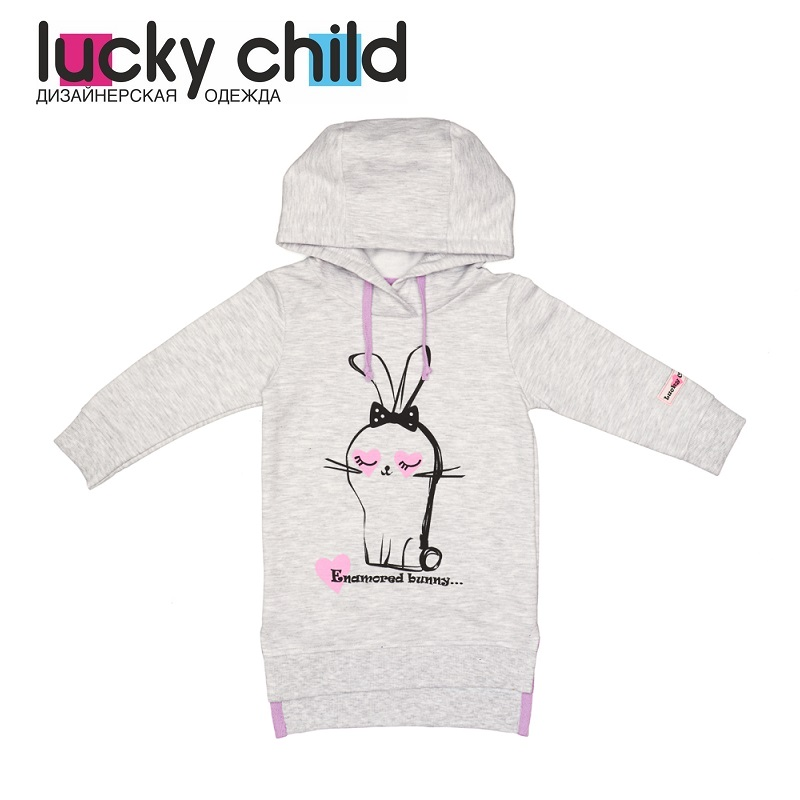 Hoodies & Sweatshirts Lucky Child for girls 54-66f Cardigan Sweatshirt Kids Coat Children clothes t100 children sweater winter wool girl child cartoon thick knitted girls cardigan warm sweater long sleeve toddler cardigan