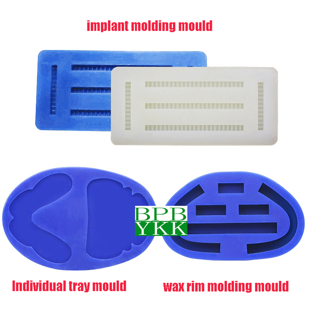 1pc dental silicone rubber individual tray wax rim bite implant molding mould for dentist different use Good Quality