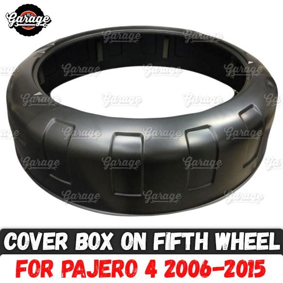 Cover box on fifth wheel for Mitsubishi Pajero 4 2006 2015 ABS plastic accessories car tuning