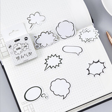 45pcs/box Black and white bubble dialog Decoration Adhesive Stickers Diy Stickers Diary Sticker Scrapbook Stationery Stickers
