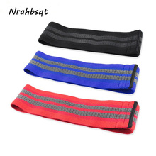 NRAHBSQT Buttocks Resistance Bands Fitness Loop Pilates Yoga Exercise Sport Band Squat Elastic Non-slip Strap Cotton RB002