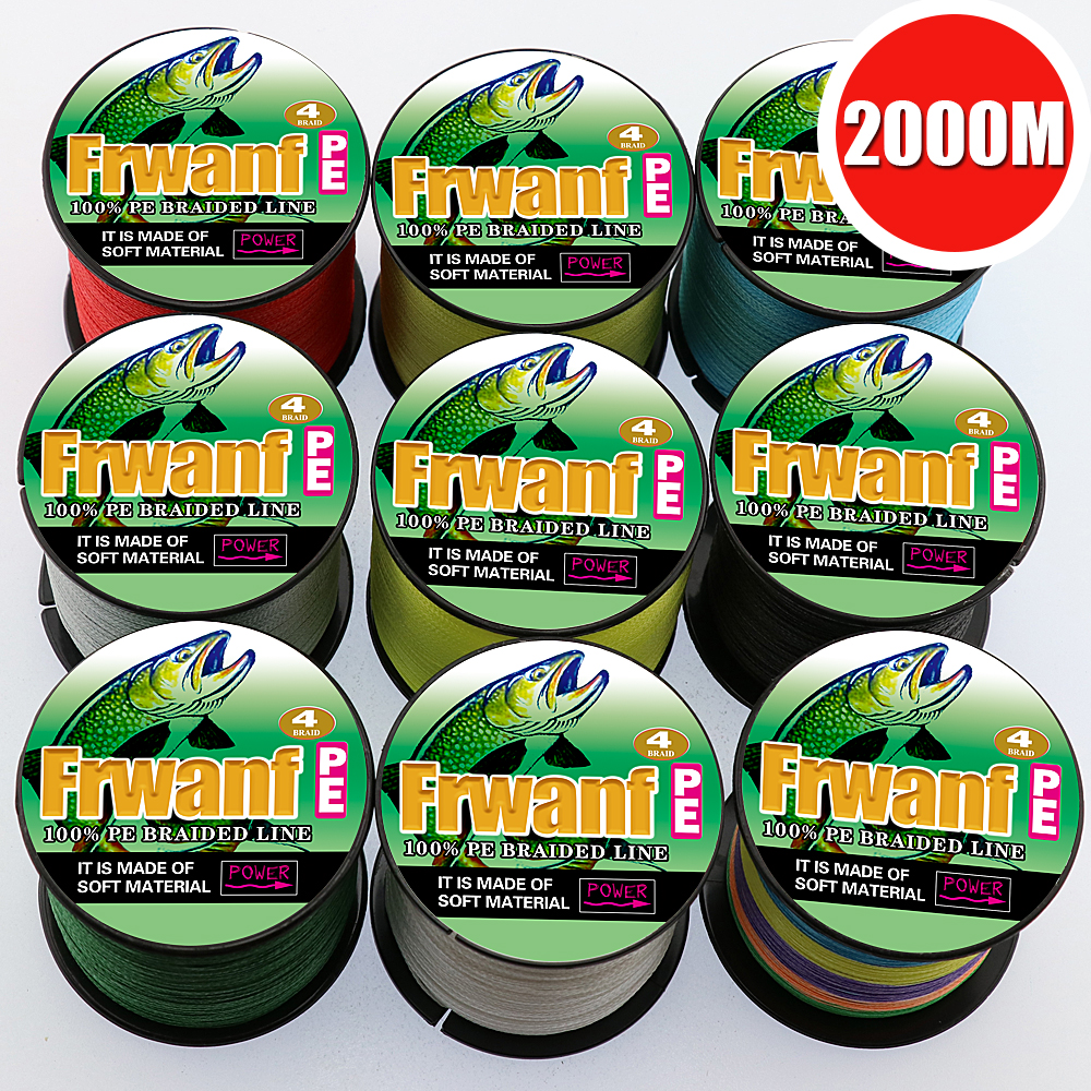 Frwanf 2000M 4 Strand Braided Fishing Line Multicolor Super Strong 4 Wire Multifilament Fishing Line Saltwater Thread 6 100LB парогенератор с утюгом silter super mini 2000m 1литр с манометром