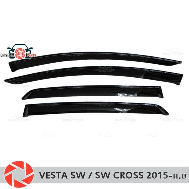 Дефлектор окон для Lada Vesta SW/SW Cross 2015-дефлектор дождя грязевая защита автомобиля Стайлинг украшения аксессуары Молдинг