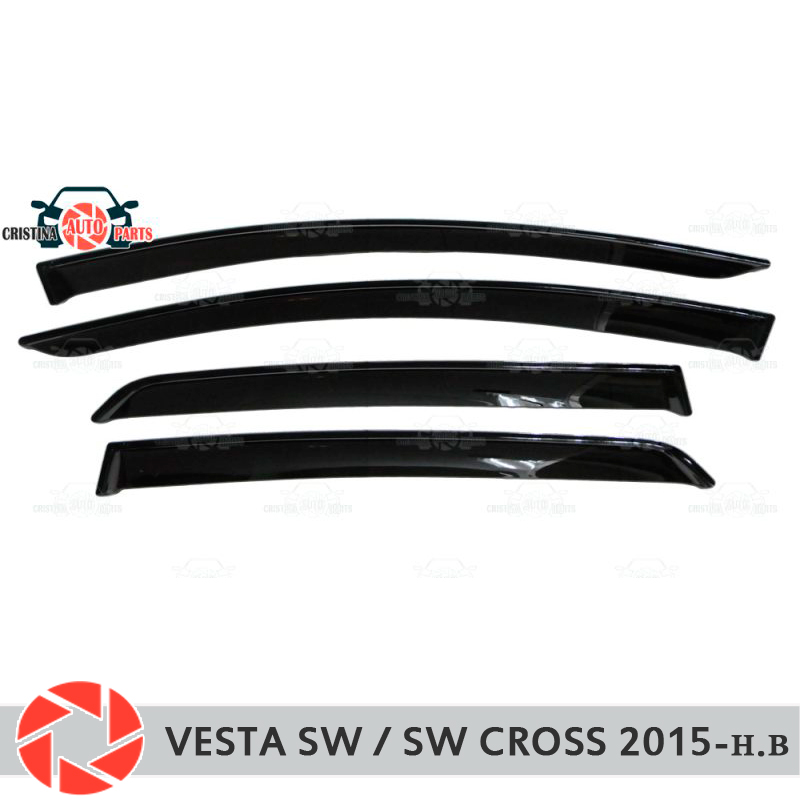 Window deflector for Lada Vesta SW / SW Cross 2015- rain deflector dirt protection car styling decoration accessories molding