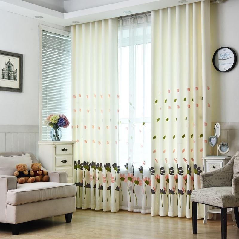 estilo de moda de lujo cortinas semiopacas urijk tamao blanco pura voile cortinas