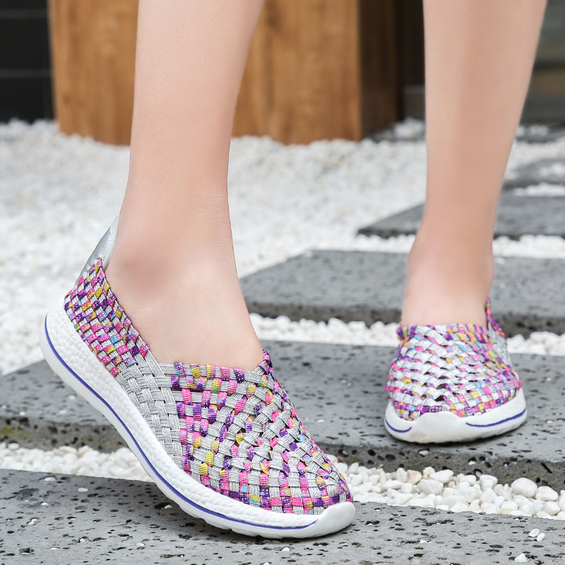 Image 4 - Women Shoes Flats Summer Breathable Sneakers Fashion Women Tenis Casual Loafers Comfortable Walk Shoes Outside Sneakers ZapatosWomens Flats   -