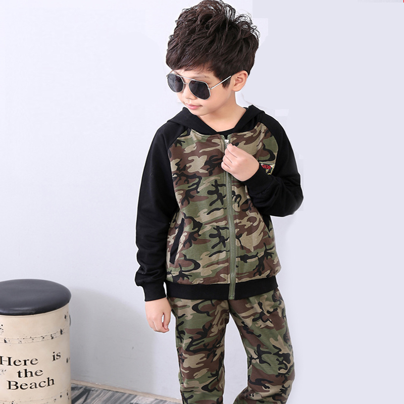 Children Clothing Sets For Boys Camouflage Sports Suits Autumn Kids Tracksuits Teenage Boys Sportswear 5 6 8 10 12 14 Years teenage girls clothes sets camouflage kids suit fashion costume boys clothing set tracksuits for girl 6 12 years coat pants