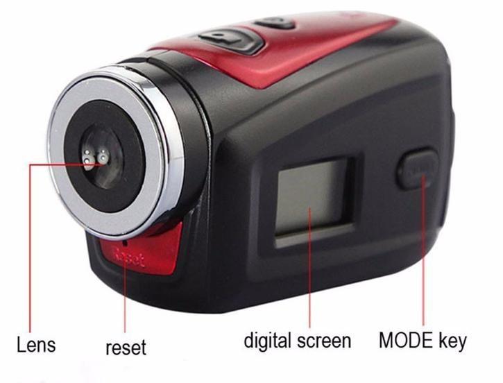 Caméra d'action sportive caméra numérique dv caméra de barre caméras d'action vidéo