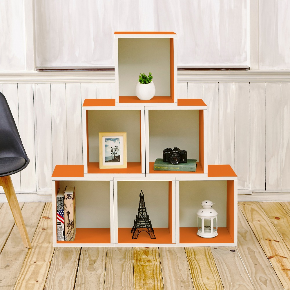 Stackable Storage Cube Tall, Orange - Tool Free Assembly - Eco Friendly - LIFETIME WARRANTY manitobah унты tall gatherer mukluk мужские черный