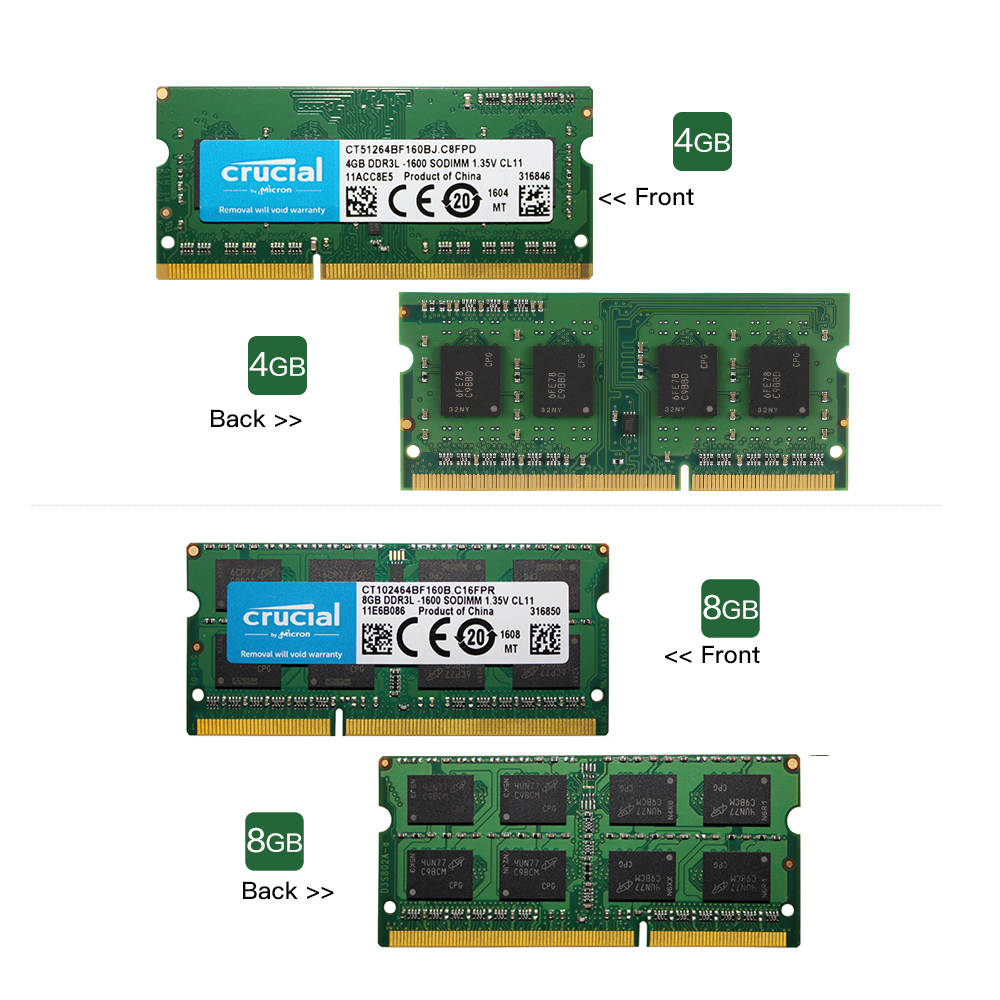 Crucial Rams Ddr3 4gb 8gb 1600mhz Pc3 12800 135v Cl11 204 Pin Corsair Ddr3l 1600 Mhz Sodimm Ram Laptop Notebook Memory Memoria In From Computer Office On