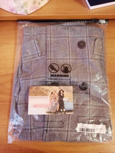 Plaid Work Wrap Button Pockets Vintage Dress V Neck Shirt Sexy Dress Women Autumn Elegant Mini Summer Dresses photo review
