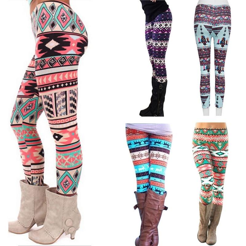 Puimentiua Women's Autumn   Leggings   Girl Winter   Legging   Bottoms Snowflake Christmas Deer Print   Leggings   Women Clothing Jeggings