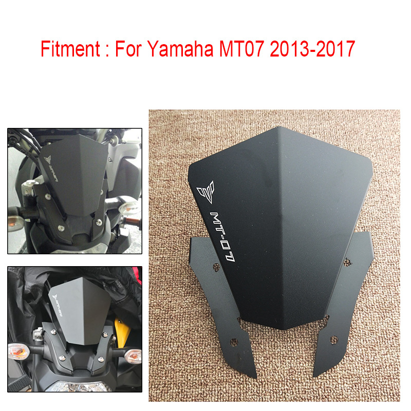 Motorbike Windshield Windscreen-Cover Mt 07 CNC Yamaha  title=