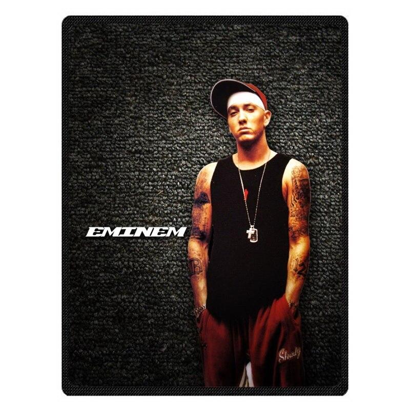 Eminem bedspread blanket Super Soft Custom Flannel Blanket to on for the sofa/Bed/Car Portable Blankets