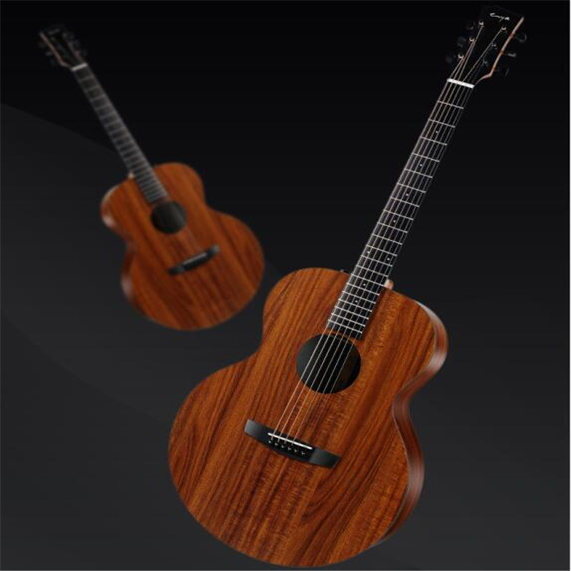 Enya EA-X1/EQ 41 Inch KOA-Patterned HPL Wood Full Board Guitarra Acoustic Guitar For Musical Instruments Lover Gift все цены