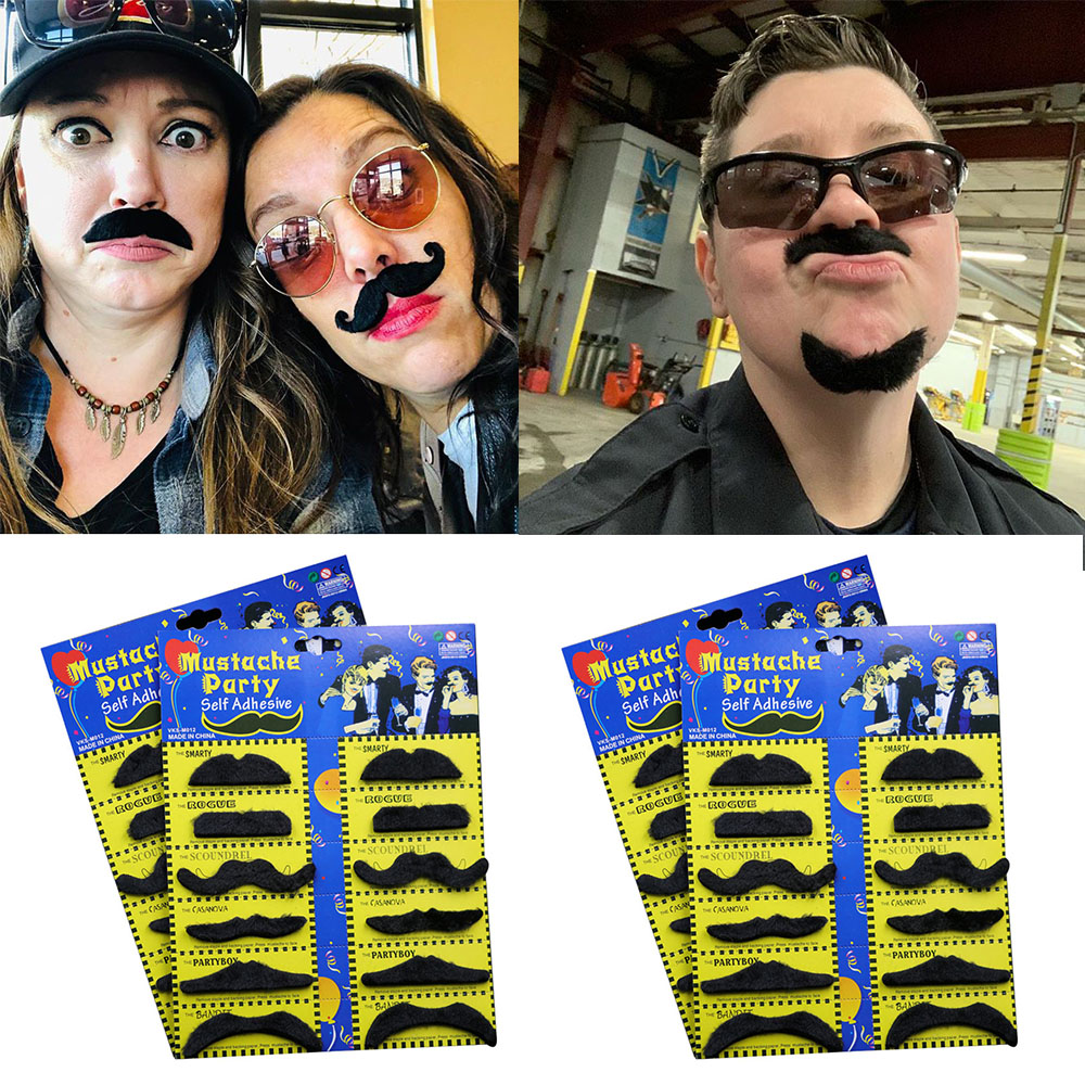 Halloween Cosplay Fake Mustache Funny Moustache Party Decor Costume Fake Beard Whisker Artificial Moustache Props(China)
