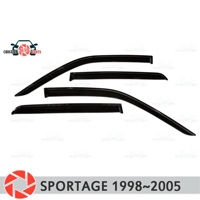 Дефлектор окон для Kia Sportage 1998 ~ 2005, дефлектор дождя, защита от грязи, аксессуары для украшения автомобиля, Молдинг