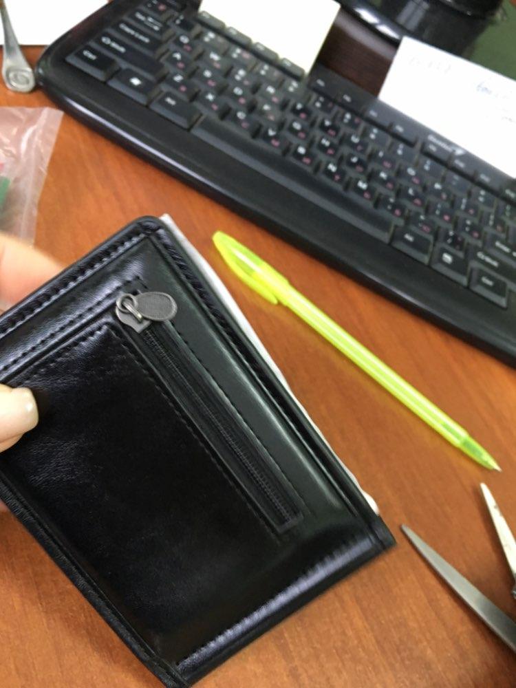 100% High Quality GUBINTU Brand  Men's Mini Zipper  Credit Card ID Coin Holder Money Clip Wallet porte monnaie photo review