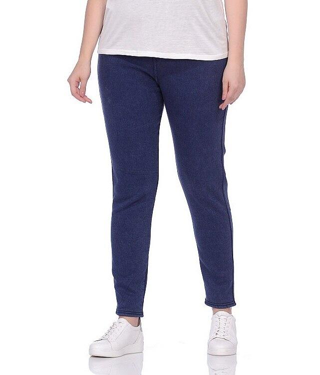 Jeggings per le donne larghi pantaloni larghi del piedino diritto OEMEN 8439 più il formato 3XL-8XL gratuita dalla Russia di inverno/autunno