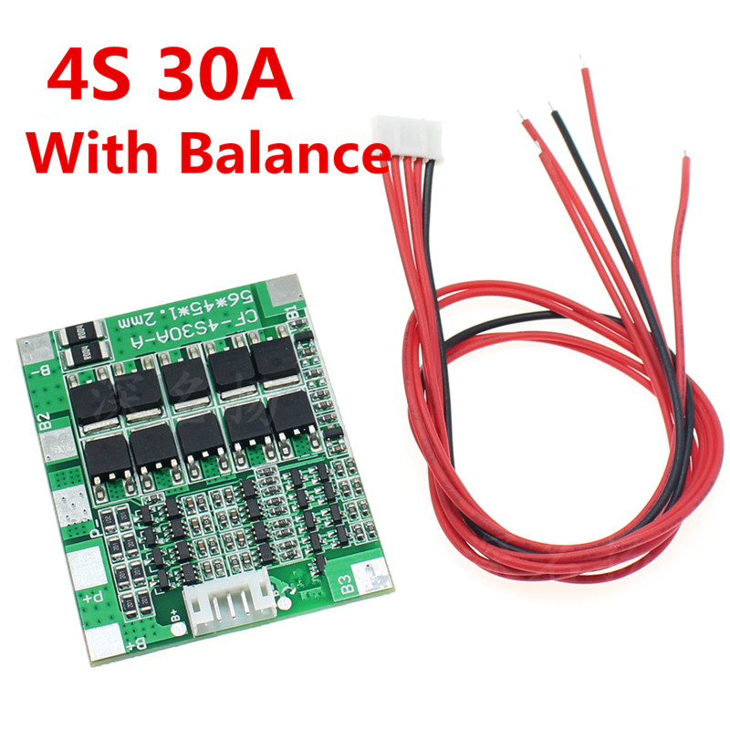 4S 30A 3.2V Lithium/Lithium Iron Phosphate 30A Protection Board BMS