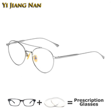 Yi Jiang Nan Brand Women Round Eyeglasses Gafas Mujer Lente Vintage Frame Optical Oculos De Grau Masculino Optometria Eye Frames