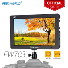 "Feelworld FW703 7 인치 3G SDI 4K HDMI 모니터 7 ""IPS 1920x1200 히스토그램 피어싱 포커스 얼룩말이 장착 된 풀 HD 카메라 필드 모니터"