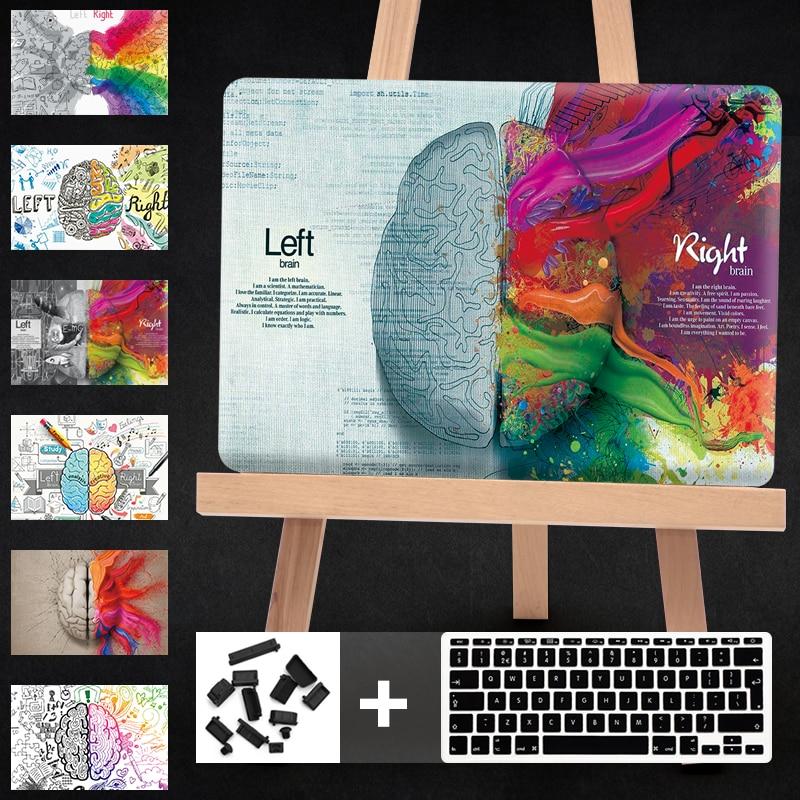 Cartoon Left Right Brain Funda For macbook Air 13 Laptop Case Hard PC for mac book Air 13 case For Macbook Retina 12 13 15 Cover цена и фото