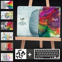 Cartoon Left Right Brain Funda For Macbook Air 13 Laptop Case Hard PC For Mac Book