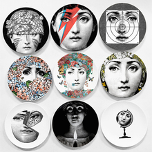 European MILAN Style Gorgeous Rare Fornasetti Plates Lina Lightbulb Face Piero Wall Hanging Decorative 8 Inch Dish