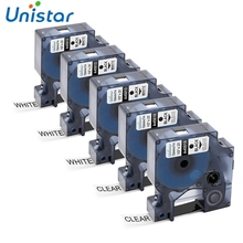 Unistar D1 Label Tape 45010 45013 4501S0720530 Compatible for DYMO LabelManager 160 Clear White 1/2 Inch x 23 Feet  5 Cartridges dental removable dental model dental tooth arrangement practice model with screw teaching simulation model oral materials