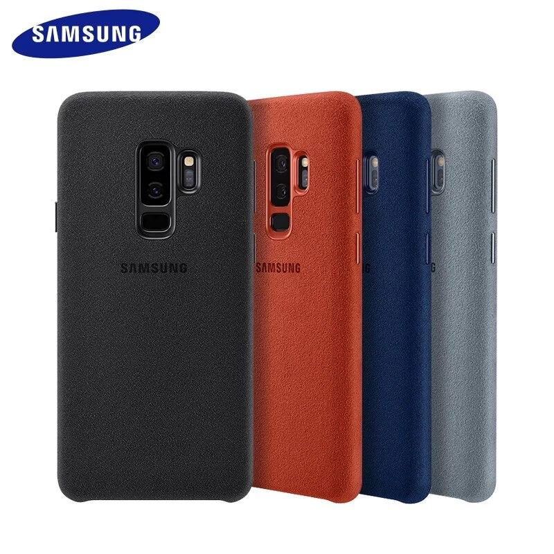 100% genuino Original Samsung Galaxy S9 S9 más S9 + ALCANTARA cubierta de cuero Anti-knock de protección Anti-caída caso EF-XG960