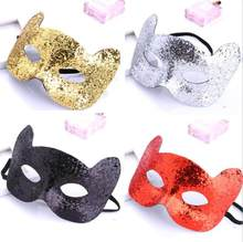 Bling Cat Mask 5 colors for Children Masquerade Xmas Party Halloween Vintage masks 3pcs or more registered free shipping YT15(China)