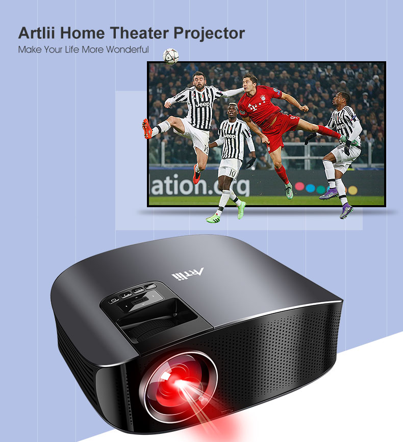 ᐂLED Projector for Home Theater Movie LCD Multimedia Projector ...
