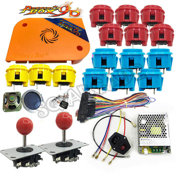 Arcade parts Bundles kit With 2222 in 1 Pandora Box 9D upgrade version lighted Joystick LED Buttons for Arcade Cabinet Machine