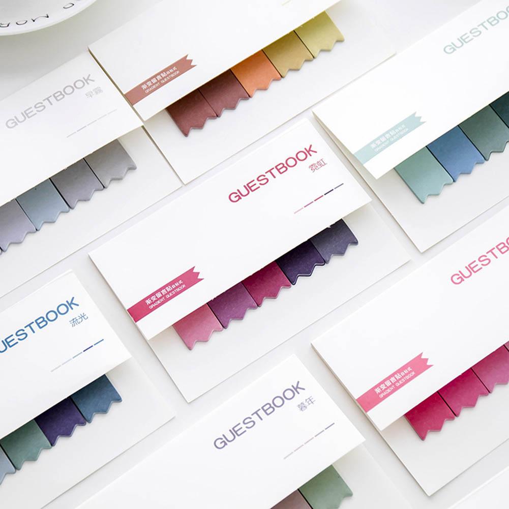 DIY Gradient Färg Creative Office Novelty Sticky Notes Planner - Block och anteckningsböcker