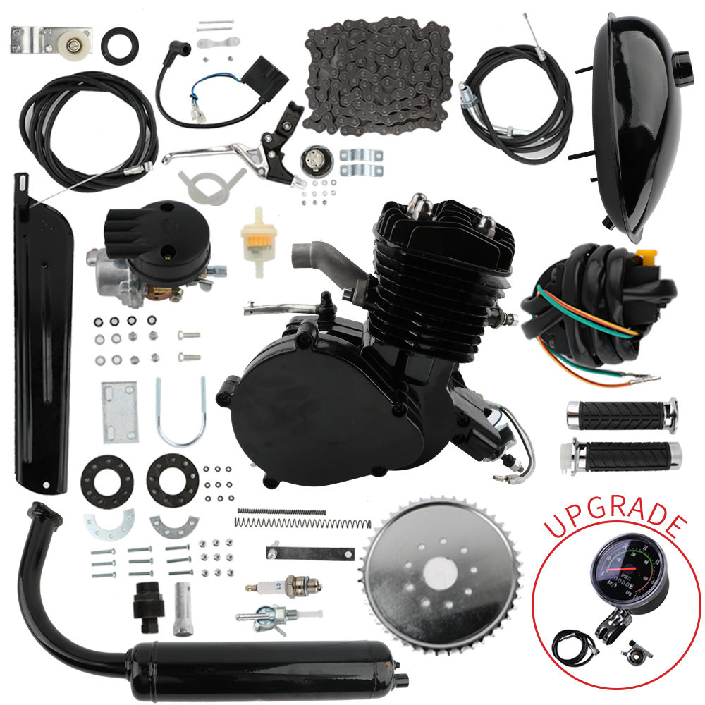 80cc 2 Stroke Bicycle Gasoline Engine Air Cooled Motor Kit for Motorized Bicycle Push Bike Replacement Accessories Engine Parts