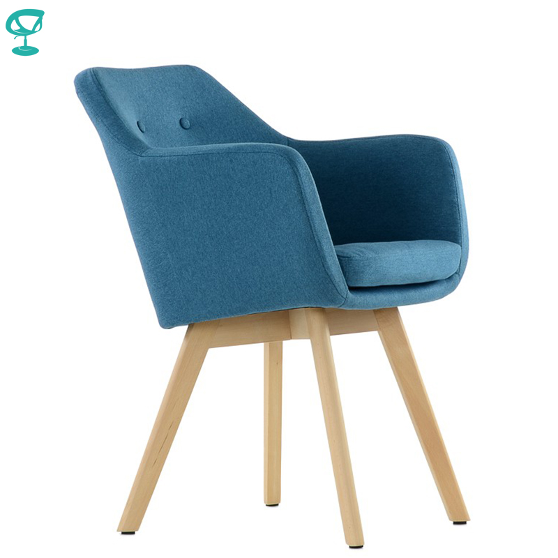 K100WdFbBlue Barneo K-100 Fabric Interior Lounge Chair Furniture Living Room Armchair Wood Legs Blue Free Shipping In Russia